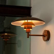 Contemporary wall light / outdoor / brass / copper