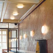 Contemporary ceiling light / round / glass / cast aluminum