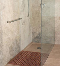 Rectangular shower base / wooden