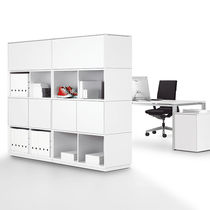 Modular bookcase / high / low / minimalist design