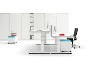 Workstation desk / wood veneer / contemporary / commercial