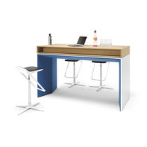 Workstation desk / wood veneer / steel / melamine