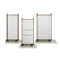Office service trolley / wood veneer / commercial