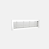 Aluminum ventilation grill / rectangular / for air supply and exhaust