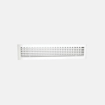 Aluminum ventilation grille / rectangular / adjustable