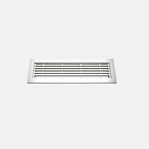 Aluminum ventilation grille / rectangular / for raised floors