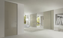 Sliding door / glass / full-height / double