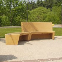 Public bench / contemporary / concrete / modular
