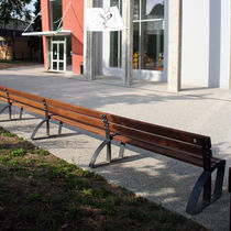 Public bench / contemporary / wood / metal