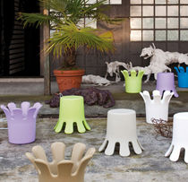 Original design pouf / polyethylene / basket