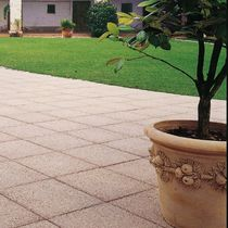 Outdoor tile / for floors / marble / sandblasted