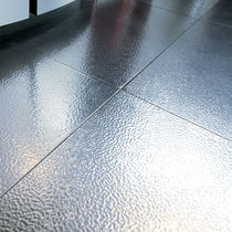 Metal floor covering / commercial / tile / textured