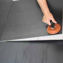 Floor tile / metal / metallized / clip-on