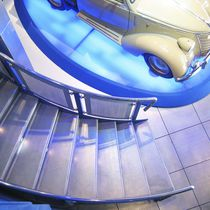 Half-turn staircase / quarter-turn / straight / stainless steel frame