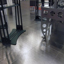 Stainless steel raised access floor / high-resistance / sandwich material