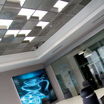 Aluminum suspended ceiling / steel / tile