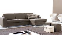 Corner sofa / bed / contemporary / cotton