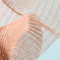 Partition wall woven wire fabric / stainless steel / close-knit mesh