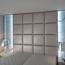 Metal wire decorative panel / acrylic / for interior fittings