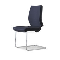 Contemporary visitor chair / upholstered / fabric / steel
