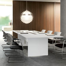 Conference table / contemporary / lacquered wood / rectangular