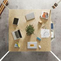 Work table / square / contemporary / laminate