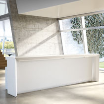 Wooden reception desk
