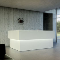 Wooden reception desk / MDF
