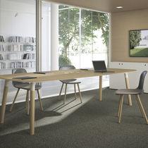 Contemporary boardroom table / oak / beech / rectangular
