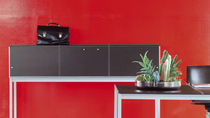 Console table / rectangular / contemporary / laminate