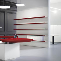 Modular shelf / wall-mounted / contemporary / wooden