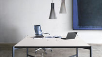 Work table / rectangular / contemporary / laminate