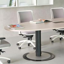 Contemporary boardroom table / birch / laminate / steel