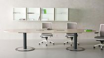 Boardroom table / oval / square / contemporary