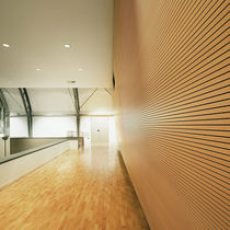 Interior fitting acoustic panel / wooden / MDF / for offices
