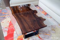 Sideboard table / contemporary / walnut / resin