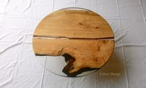 Coffee table / design / cherrywood / round