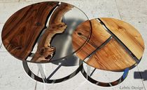 Coffee table / contemporary / cherrywood / round