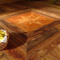 Engineered wood flooring / glued / antique larch / oiled