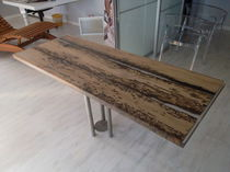 Contemporary dining table / wooden / rectangular / commercial