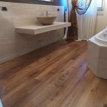 Engineered parquet flooring / glued / elm / aged