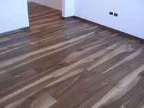 Engineered parquet flooring / antique walnut / oiled