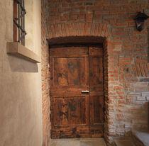 Entry door / swing / oak / insulated