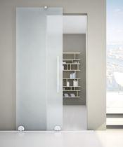 Glass sliding door system