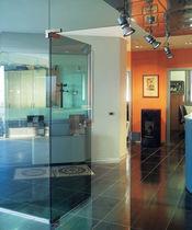 Glass door hinge / stainless steel / corner