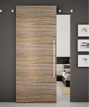 Wood sliding door system