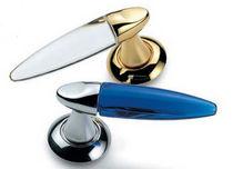 Glass door handle / brass / aluminum / contemporary