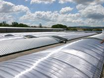 Polycarbonate roofing sheet / curved
