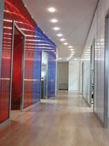Polycarbonate partition wall panel