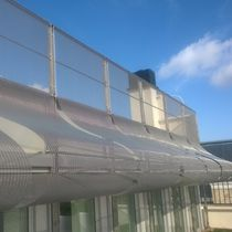 Facade woven wire fabric / for interior fittings / solar shading / for ceilings